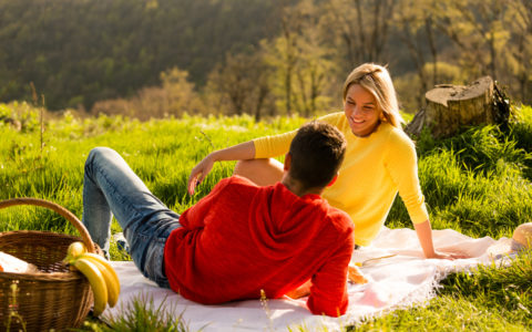 Romantic Picnic in the mountains